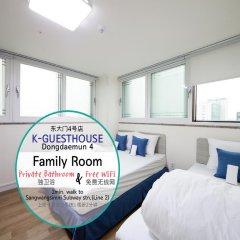 Отель K-GUESTHOUSE Dongdaemun 4 2* Стандартный семейный номер с двуспальной кроватью