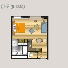 Отель Residence La Source Quartier Louise 3* Студия с различными типами кроватей фото 20
