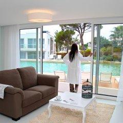 Отель Obidos Lagoon Wellness Retreat 4* Улучшенные апартаменты разные типы кроватей фото 6