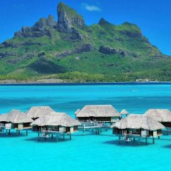 Отель Four Seasons Resort Bora Bora 5* Бунгало с различными типами кроватей фото 13
