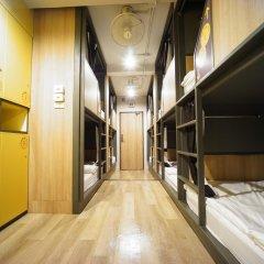 BRB Hostel Bangkok Silom Кровать в общем номере с двухъярусной кроватью фото 9
