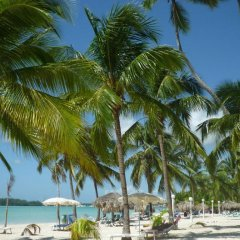 Отель Parco del Caribe пляж