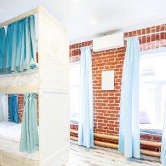 Волхонка хостел Кровать в общем номере с двухъярусными кроватями фото 4