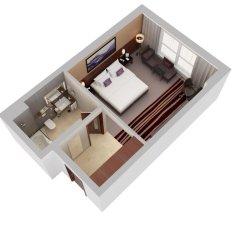 Отель Flora Al Barsha Mall of the Emirates 4* Стандартный номер с различными типами кроватей фото 5