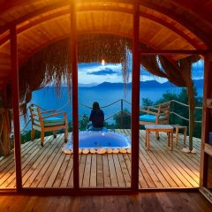 Seaview Faralya Butik Hotel Номер Делюкс с различными типами кроватей фото 15