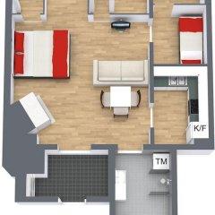 Отель Avenue A1 Улучшенные апартаменты с различными типами кроватей фото 45