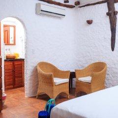 Отель Las Nubes de Holbox 3* Бунгало с различными типами кроватей фото 15