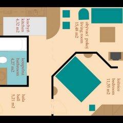 Отель Golden Prague Residence 4* Апартаменты с различными типами кроватей