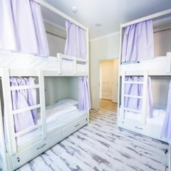 Волхонка хостел Кровать в общем номере с двухъярусными кроватями фото 23