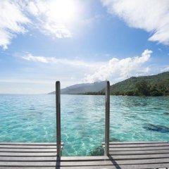 Отель Hilton Moorea Lagoon Resort and Spa 5* Бунгало Премиум с различными типами кроватей фото 3