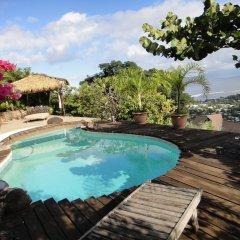 Отель Chalet de tahiti Французская Полинезия, Пунаауиа - отзывы, цены и фото номеров - забронировать отель Chalet de tahiti онлайн бассейн фото 2