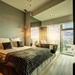 Отель Apartamenty Sky Tower Улучшенные апартаменты с различными типами кроватей фото 6