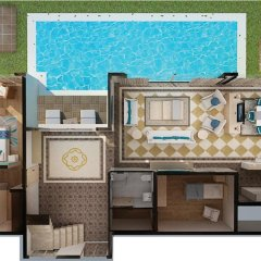 Отель Nirvana Lagoon Villas Suites & Spa 5* Вилла с различными типами кроватей фото 29