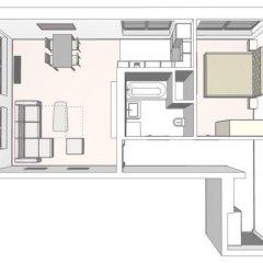 Отель Rezidence Muzeum Улучшенные апартаменты с различными типами кроватей фото 11