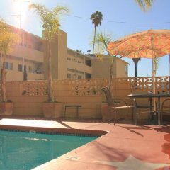 Отель Comfort Inn Near the Sunset Strip США, Лос-Анджелес - отзывы, цены и фото номеров - забронировать отель Comfort Inn Near the Sunset Strip онлайн бассейн фото 3