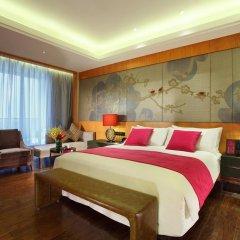 Отель Crowne Plaza Chengdu West Улучшенный номер с различными типами кроватей фото 2