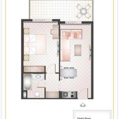 Отель Sunshine Rhodes 4* Стандартный семейный номер с различными типами кроватей фото 9