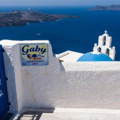 Отель Gaby Apartments Греция, Остров Санторини - отзывы, цены и фото номеров - забронировать отель Gaby Apartments онлайн приотельная территория фото 2