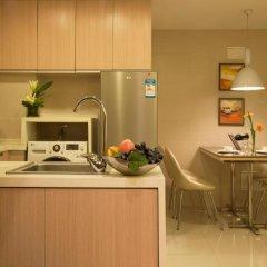 Отель Citadines Xingqing Palace Xi'an 4* Улучшенные апартаменты с различными типами кроватей фото 3