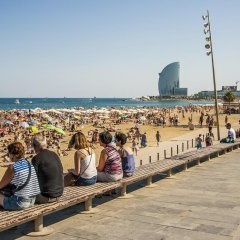 Апартаменты Habitat Apartments Beach Studio Барселона пляж