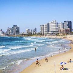 Sea Land Suites Израиль, Тель-Авив - 11 отзывов об отеле, цены и фото номеров - забронировать отель Sea Land Suites онлайн пляж фото 2
