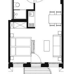 Апартаменты Design-Apartments im lebendigen Haus Студия с различными типами кроватей фото 9