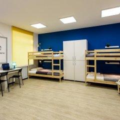 Хостел PoduShkinn Кровать в общем номере двухъярусные кровати фото 16