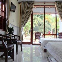 Отель Hoa Nhat Lan Bungalow 2* Стандартный номер с различными типами кроватей фото 2