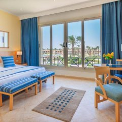 Отель Cleopatra Luxury Resort Makadi Bay 5* Представительский люкс с различными типами кроватей фото 5