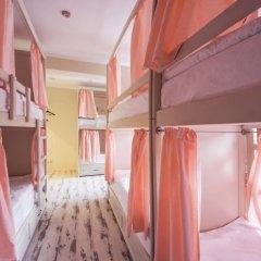 Волхонка хостел Кровать в общем номере с двухъярусными кроватями фото 10
