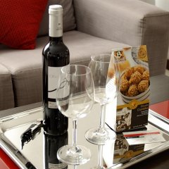 Отель Ciutat De Girona 4* Улучшенный номер с различными типами кроватей фото 3