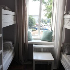 Hostel DomZhur Кровать в общем номере с двухъярусными кроватями фото 3