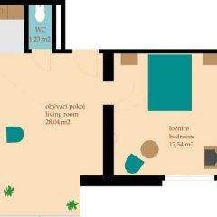 Отель Golden Prague Residence 4* Улучшенные апартаменты с различными типами кроватей фото 27
