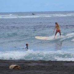 Отель Taharuu Surf Lodge Французская Полинезия, Папеэте - отзывы, цены и фото номеров - забронировать отель Taharuu Surf Lodge онлайн пляж фото 2