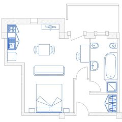Hotel Residence Ulivi E Palme 3* Студия с различными типами кроватей фото 6