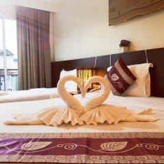 Pimrada Hotel 3* Стандартный семейный номер разные типы кроватей фото 4