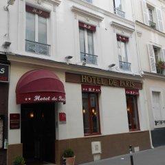 Отель De Paris Montmartre Париж вид на фасад фото 3