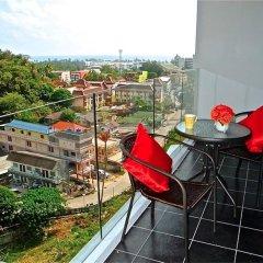 Апартаменты Chic Karon Studio Sea View балкон