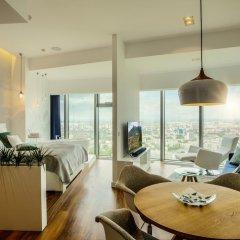 Отель Apartamenty Sky Tower Улучшенные апартаменты с различными типами кроватей фото 9
