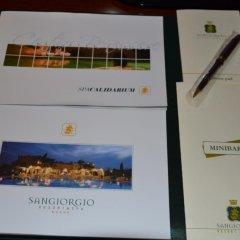 Отель Sangiorgio Resort & Spa 5* Стандартный номер фото 3