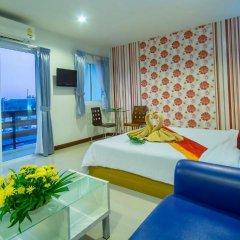 Отель Sea Breeze Jomtien Residence 3* Номер Делюкс с различными типами кроватей фото 3