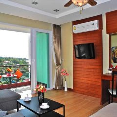 Апартаменты Sea & Sky Karon 2 bedrooms Apartment Sea View комната для гостей фото 3