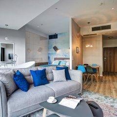 Отель Apartamenty Sky Tower Улучшенные апартаменты с различными типами кроватей фото 16