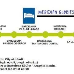 Отель Meridian Glories Барселона городской автобус