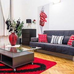 Апартаменты Black & White Apartment Будапешт комната для гостей фото 5