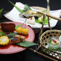Отель Tobise Onsen Tenga Sanso Минамиогуни питание фото 2