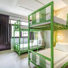 Отель @Hua Lamphong 2* Кровать в общем номере с двухъярусной кроватью фото 2
