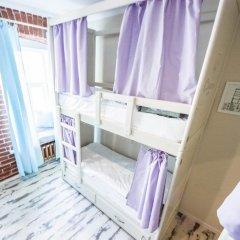 Волхонка хостел Кровать в общем номере с двухъярусными кроватями фото 18