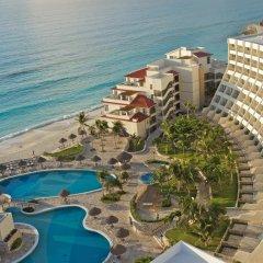 Отель Grand Park Royal Luxury Resort Cancun Caribe Мексика, Канкун - 3 отзыва об отеле, цены и фото номеров - забронировать отель Grand Park Royal Luxury Resort Cancun Caribe онлайн пляж фото 3