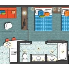 Отель Universals Cabana Bay Beach Resort 3* Стандартный номер с различными типами кроватей фото 7